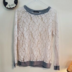 Forever 21 Lace Pullover (See Through)